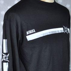 Metallica Ninja Star Logo Long Sleeve Large Concert T-Shirt New 2007 Bravado