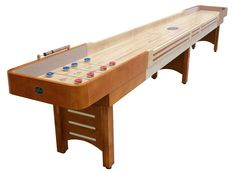 9' Honey Maple Playcraft Coventry Shuffleboard Table