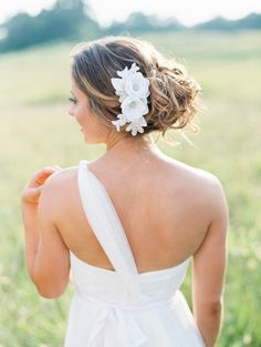 Outdoor Bridal Session by JoPhoto. Love her convertible dress and hair flower! by JoPhoto.