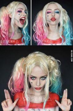 Harley Quinn makeup!!!
