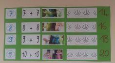 Maths CP Les doubles -construction et affichage comme Stella Baruk