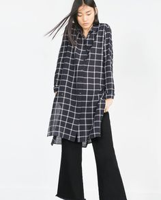 LONG CHECKED TUNIC-View All-DRESSES-WOMAN | ZARA United States