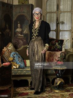 Fashion icon <a gi-track='captionPersonalityLinkClicked' href=/galleries/search?phrase=Iris+Apfel&family=editorial&specificpeople=612628 ng-click='$event.stopPropagation()'>Iris Apfel</a> is photographeed for Avenue Magazine on February 13, 2014 in New York City. PUBLISHED IMAGE.