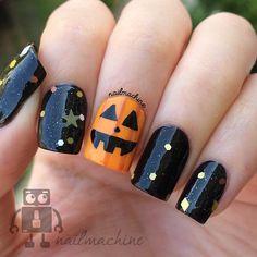 Instagram media nailmachine - Pumpkin halloween #nail #nails #nailart