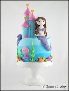 Mermaid castle cake