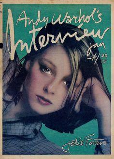 Jodie Foster by Andy Warhol Interview Magazine, 1977