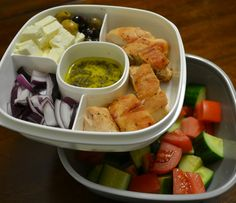 Grilled Chicken Greek Salad in our new BentgoSalad.