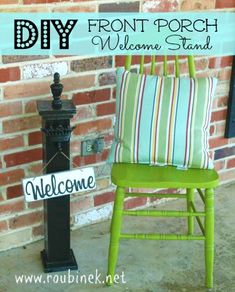 DIY Front Porch Welcome Sign Stand