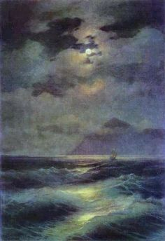 """Ivan Aivazovsky, """"View of the Sea by Moonlight"""""""