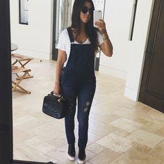 Kourtney kardashian overalls