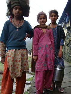 Village girls from the Himalayan foothills