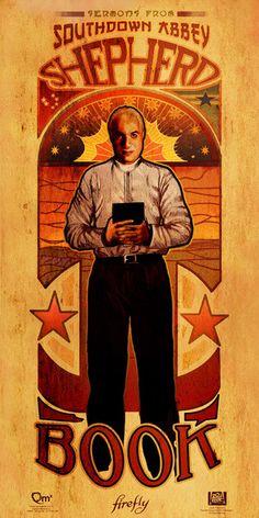 The men of Firefly in Art Nouveau style. (Book) #artnouveau #firefly #men