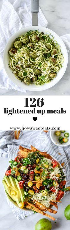 126 Meal Ideas for 2017. 18 weeks of menu plans! I howsweeteats.com @howsweeteats