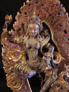 Late 18th C. Tibetan-Mongolian Bronze Machig Labdron
