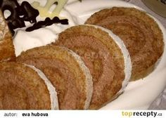 ořechová roláda bez mouky Raw Vegan, Vegan Vegetarian, Paleo, Czech Recipes, Meatloaf, Nutella, Banana Bread, Pork, Food And Drink