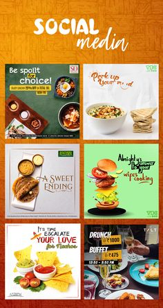 Social Media Food Design (Vol on Behance Food Poster Design, Food Menu Design, Creative Poster Design, Graphic Design Posters, Social Media Poster, Social Media Banner, Social Media Branding, Social Media Design, Web Design