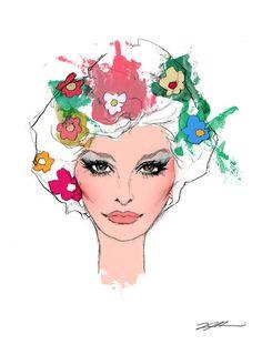 Sophia Loren Pop art Fine art illustration art print Luis Arredondo. $14.00, via Etsy.