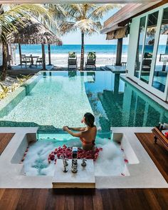 The most detailed travel guide about the Maldives for every budget! Learn everything about the Maldives and plan your the best vacation! Vacation Places, Dream Vacations, Vacation Spots, Honeymoon Places, Vacation Travel, Vacation Trips, Dream Pools, Pool Designs, Hotels And Resorts