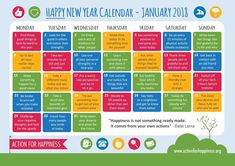 February 2018 has come to end - but do not fear, for our friends at Action for Happiness have issued another Positive Psychology-infused calendar. It´s time for Mindful March. You can get your printable high-resolution version here. Action For Happiness, New Year Calendar, December Calendar, Advent Calendar, Daily Calendar, 2019 Calendar, Friday Saturday Sunday, Learn German, Positive Psychology