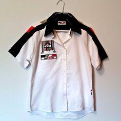 (584) BAR Honda Button Up Crew Shirt - Size M, Medium Med, Racing Race Formula 1 in Sports Memorabilia, Motor Sport Memorabilia, Formula 1   eBay!