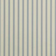 John Lewis Ticking Stripe Wallpaper inBlue