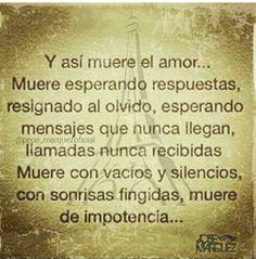 Y así muere el amor!!!!