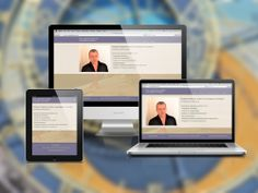 Diseño de sitio web para profesional independiente dedicado a la investigación astrológica. Diseño en HTML5.