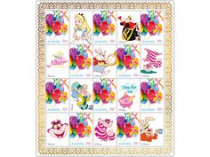 Alice in Wonderland stamp pack