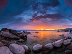 Sunrise on Lake Tahoe by photographer A.Blair