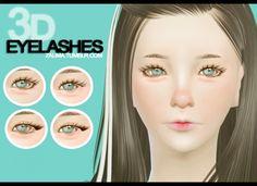 3D Eyelashes for small eyes at Zauma via Sims 4 Updates  Check more at http://sims4updates.net/make-up/3d-eyelashes-for-small-eyes-at-zauma/