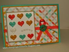 A whole lotta love You Brighten My Day, Stampin Up Australia, Stamping with Karlie, Sale-a-bration 2015