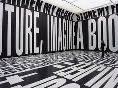 Past | Present | Future art installation by Barbara Kruger.