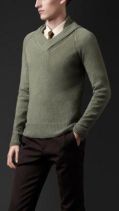 Open-Stitch Cashmere Sweater | Burberry