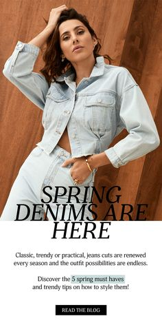 Classic, trendy or practical, jeans cuts are renewed every season and the outfit possibilities are endless. Discover the 5 spring must haves - and trendy tips on how to style them! #denim #jeans #springjeans #springtrends #fashion #springoutfit #denimoutfit #ootdinspo #ootd #denimmusthave #essentals #fashionessentials
