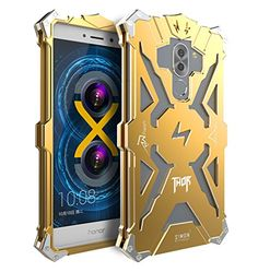 Huawei Honor 6X / Huawei Mate 9 Lite Case, LWGON Aviation Aluminum Anti-scratch Strong Protection Metal Case for Huawei Honor 6X, Hollow Design Full Signal Huawei Honor 6X Thor Case (thor gold)