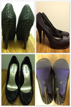 I want!!! Rachel Roy Pyramid Studded Kimi Shoes in Black Synthetic $99 (Now on sale @ Macy*s!)