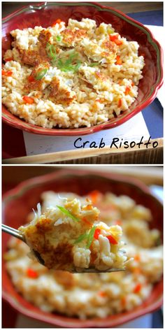 Delicious Crab Risotto have your cake and eat it too! If you love crab cakes, you're gonna love this dish!
