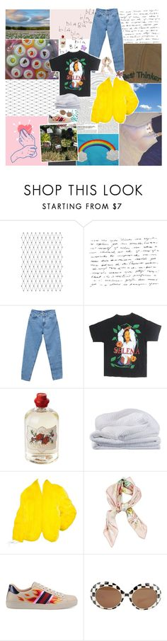 """""""my heart's always beating"""" by gloomed ❤ liked on Polyvore featuring McGinn, Pull&Bear, Soap & Paper Factory, Sheridan, Saga Furs, Hermès and Gucci"""