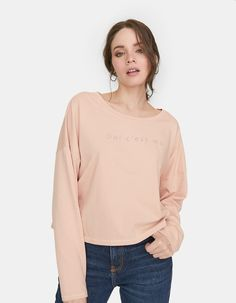 Tricou M/L lung cu text Join Life - Tricouri Romania, Slogan, T Shirt, France, Spring, Long Sleeve, Sleeves, Life, Tops