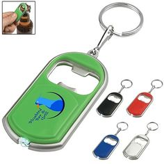 Promotional Bottle Opener Key Chain With LED Light | Customized Key Chains | Promotional Key Chains