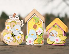 Spring Birdhouses SVG Kit - $6.99 : SVG Files for Silhouette, Sizzix, Sure Cuts A Lot and Make-The-Cut - SVGCuts.com