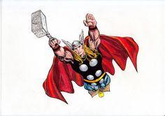 Thor (Watercolor) (Acuarela) José Martín