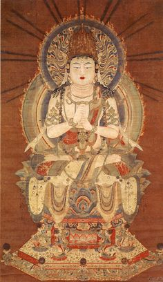 大日如来 Dainichi Nyorai: the sun Buddha, called Vairocana or Mahāvairocana; a celestial buddha who is often interpreted, in texts like the Flower Garland Sutra, as the Bliss Body of the historical Buddha (Siddhartha Gautama). In Chinese, Korean, and Japanese Buddhism, Vairocana is also seen as the embodiment of the Buddhist concept of Emptiness. In the conception of the Five Wisdom Buddhas of Vajrayana Buddhism, Vairocana is at the centre.