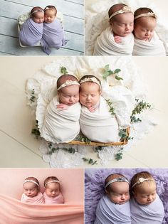 Newborn Twin Photos, Twin Newborn, Newborn Poses, Twin Babies, Newborns, Twin Girls Photography, Newborn Photography Poses, Children Photography, Cute Baby Twins