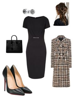 """Work"" by cgraham1 on Polyvore featuring ESCADA, Christian Louboutin, Yves Saint Laurent, Dolce&Gabbana and Bling Jewelry"