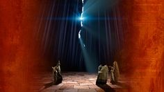 In Matthew 27:50-51 we are told, that as Jesus breathed his final breath, the Temple Veil was suddenly torn from top to bottom.