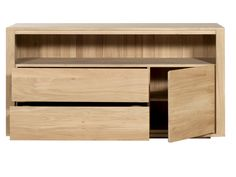 Solid wood chest of drawers Oak Shadow Collection by Ethnicraft