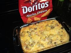 Doritos Casserole 2 ounce) cans cream of mushroom soup 1 cups water 1 ounce) can Rotel Tomatoes, chopped 1 Dorrito Casserole, Casserole Recipes, Mexican Dishes, Mexican Food Recipes, Incredible Recipes, Cream Of Chicken Soup, Creamed Mushrooms, Ground Beef Recipes, How To Cook Chicken