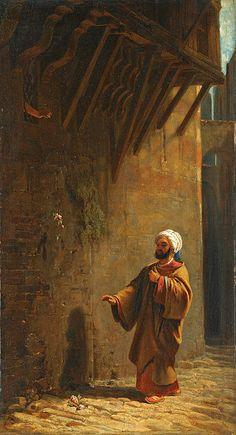 A Street In Cairo by Carl Spitzweg (German 1808-1885)