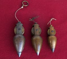 Plumb Bob Set of 3 Stanley Reel Type | eBay